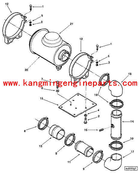 Cap Air Cleaner 3017003 Chongqing Engine Parts K19 Egine